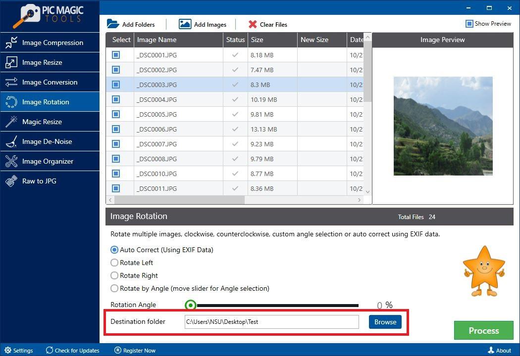 PicMagic Tools: Choose Destination Folder