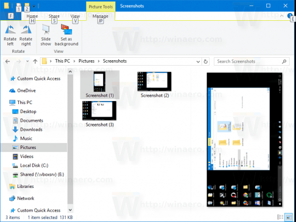 File Explorer: Open Manage Tab