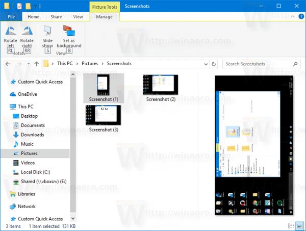 File Explorer: Rotate Right using Short Key