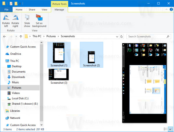 File Explorer: Rotate Multiple Images