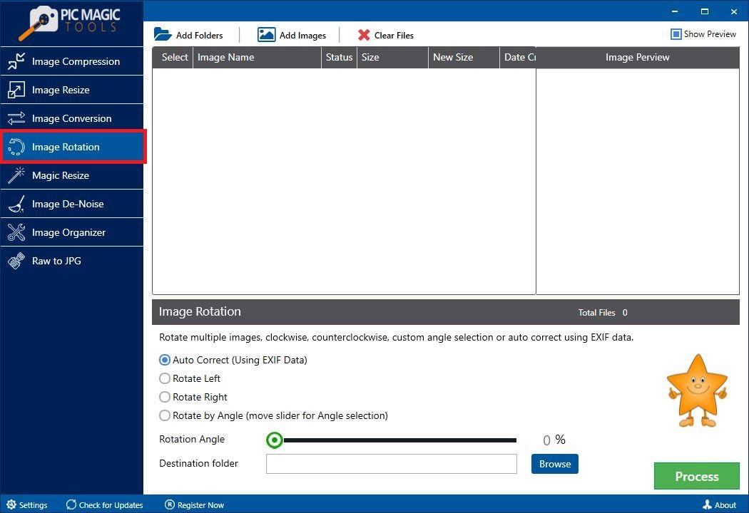 PicMagic Tools: Select Image Rotation