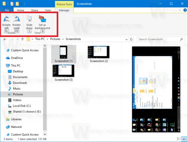 File Explorer: Short keys